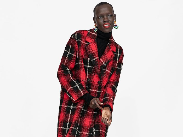 Plaid Zara coat