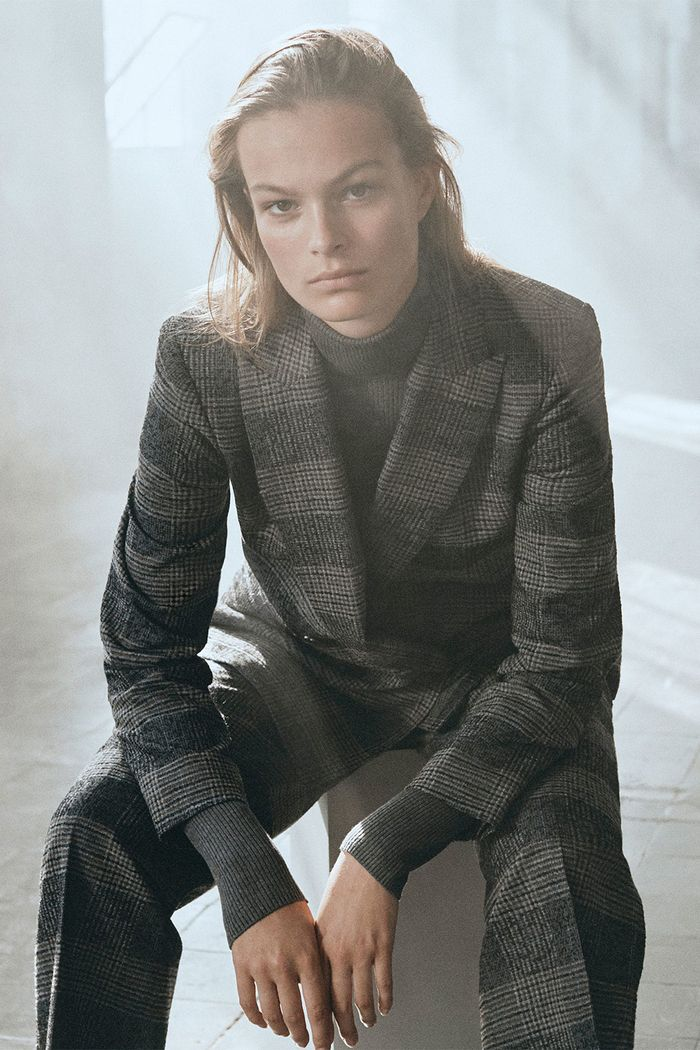 Best Massimo Dutti items 2018: model wearing a checked suit
