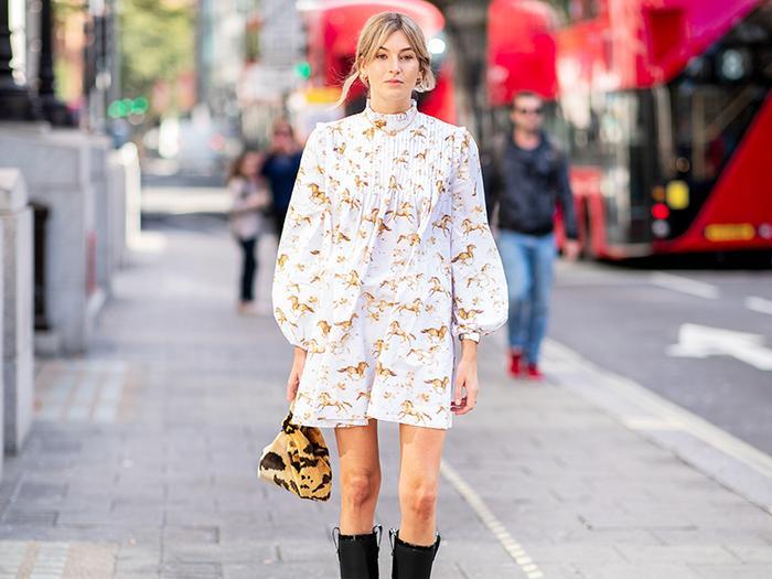 Ganni dress: street style