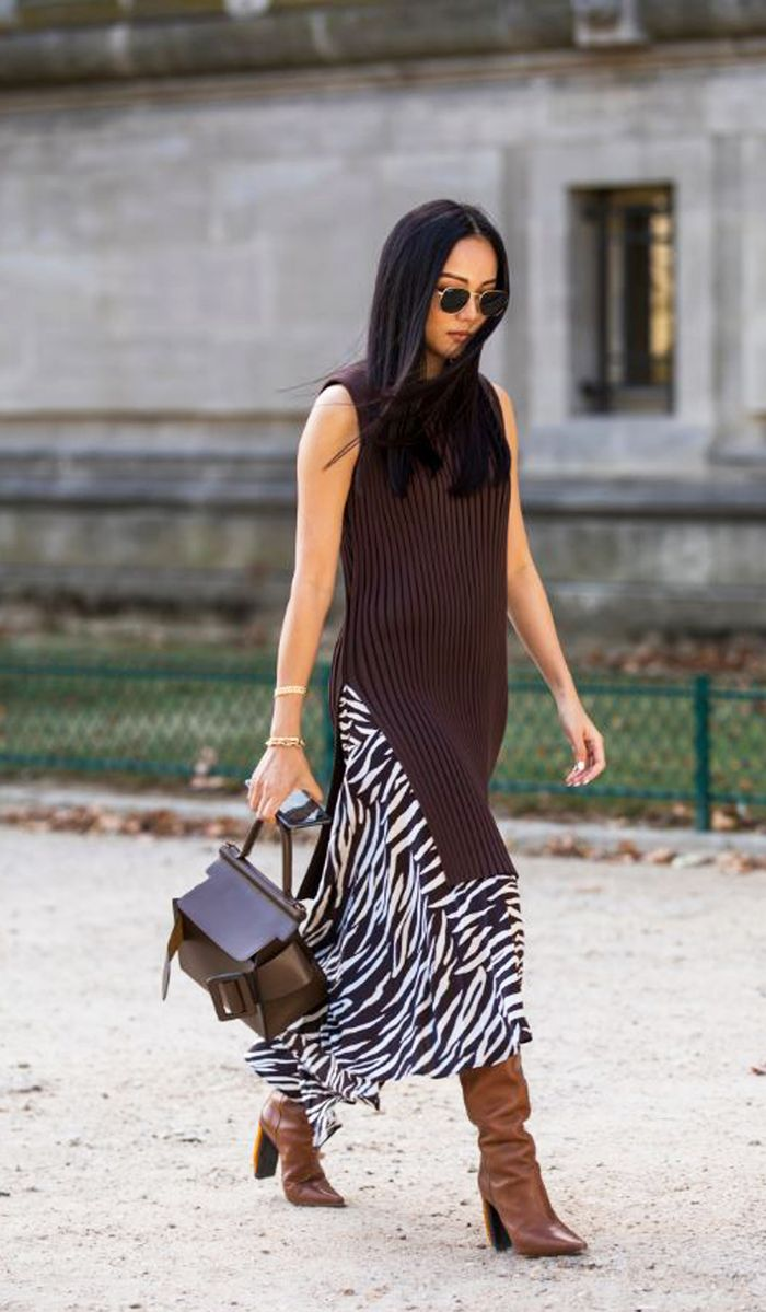midi dress with booties