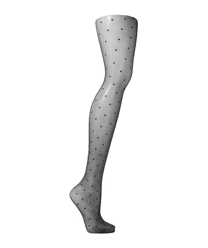 Emma tights Fashion Collection modell straps Striped Sheer Tights