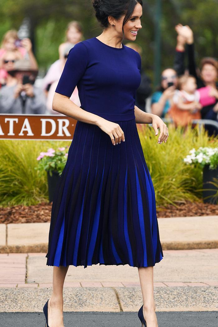 Meghan Markle Australia royal tour outfits: blue Givenchy dress
