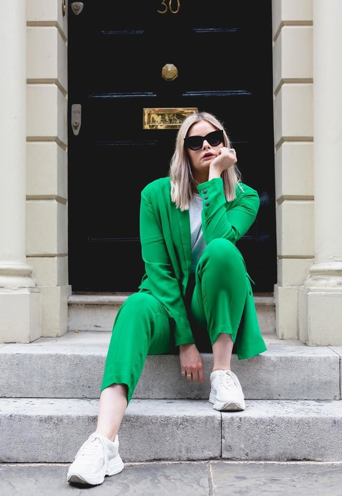 ASOS insiders: ASOS Kat in green suit