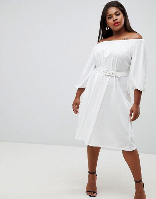 White Winter Dresses With Belts