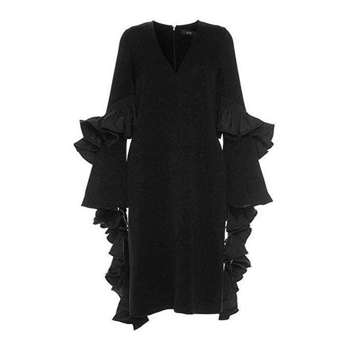 Ellery Molotov Ruffle Sleeve Frill Dress
