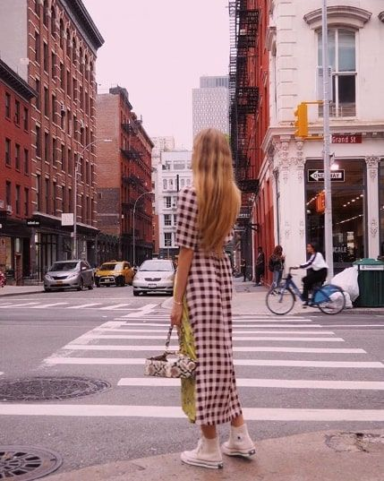 Cool Checkered-Dress Outfits