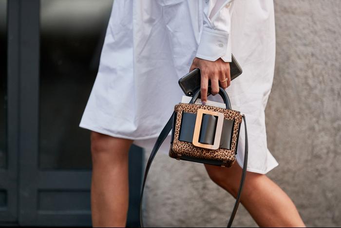 Leopard-print handbags