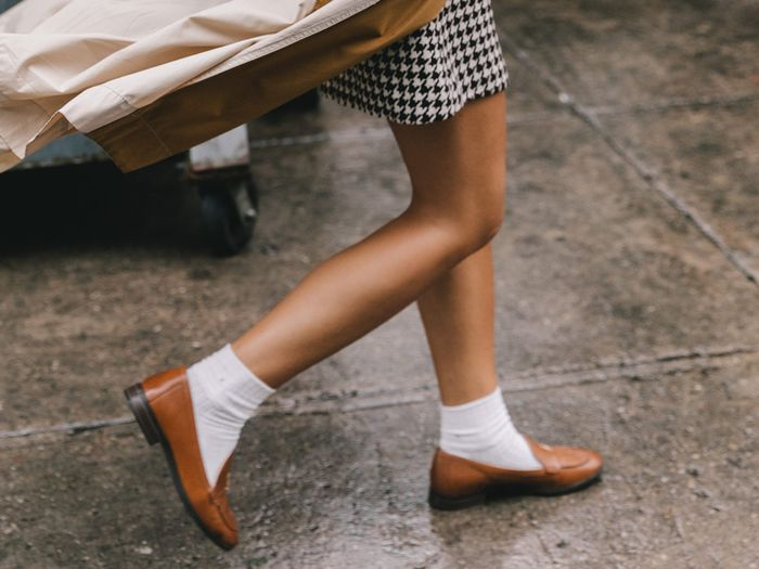 How to Wear Women's Loafers With Socks