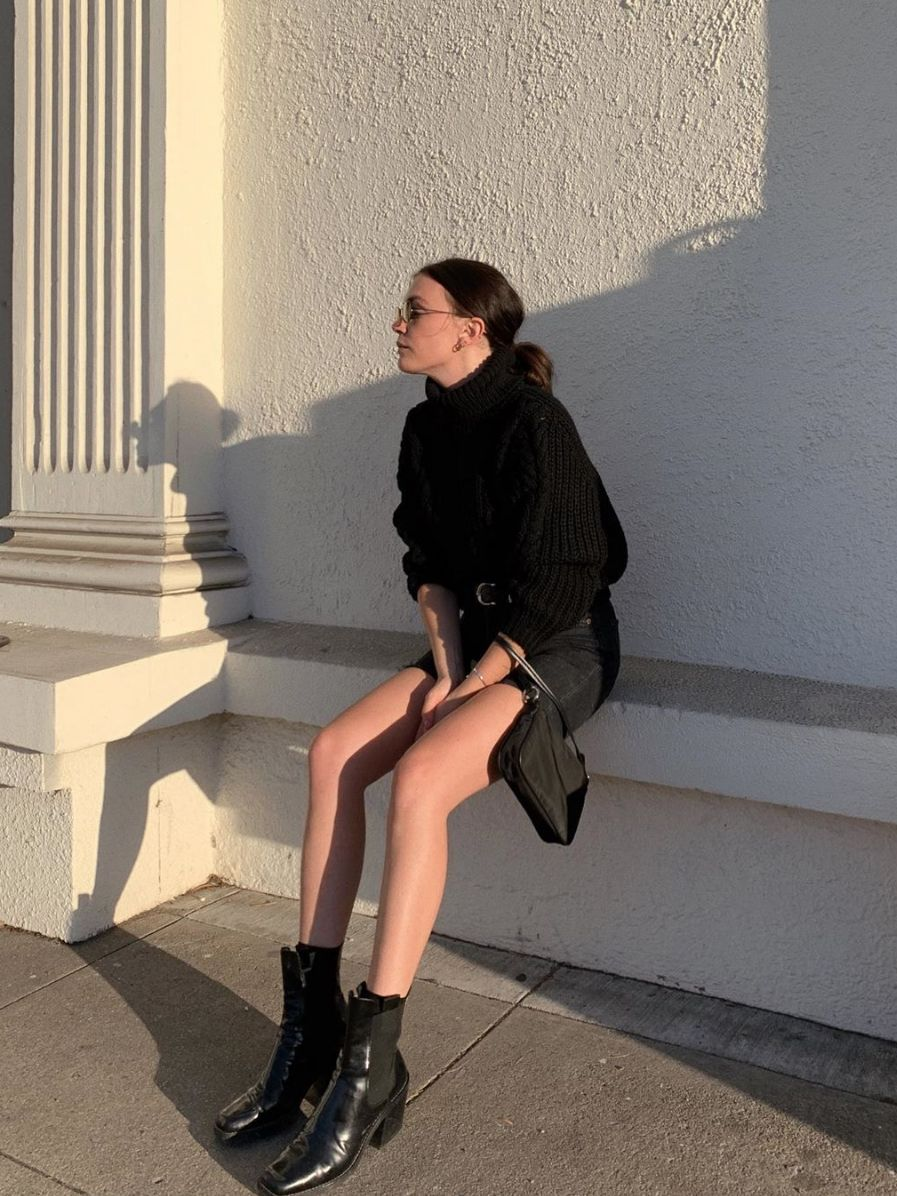 15 Outfits That Will Actually Make Your Basic Black Turtleneck Look Cool