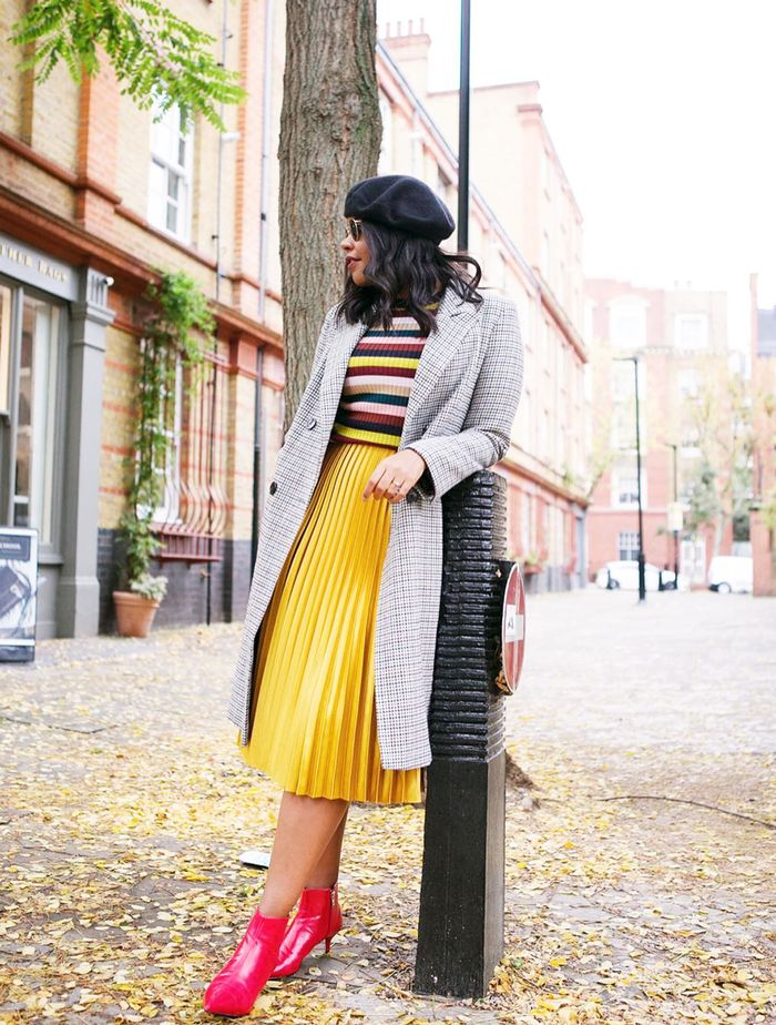 Types of Skirts: Pleated skirts have been a major trend for the last few seasons