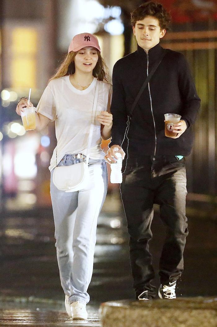 Lily-Rose Depp and Timothée Chalamet