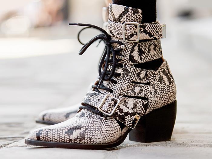 Chloé snake boots