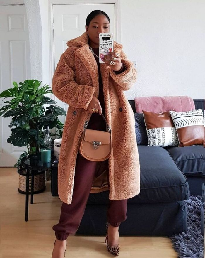 Fur jacket outfits