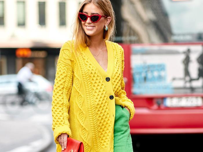 Bright Yellow Cardigans