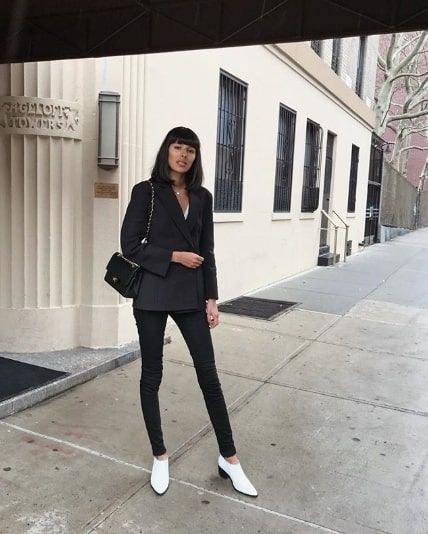 Black Jean Outfits for Winter