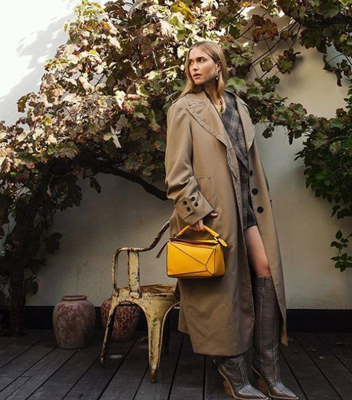 Best Yellow Accessories: Pernille Teisbaek Holds Yellow Loewe Bag