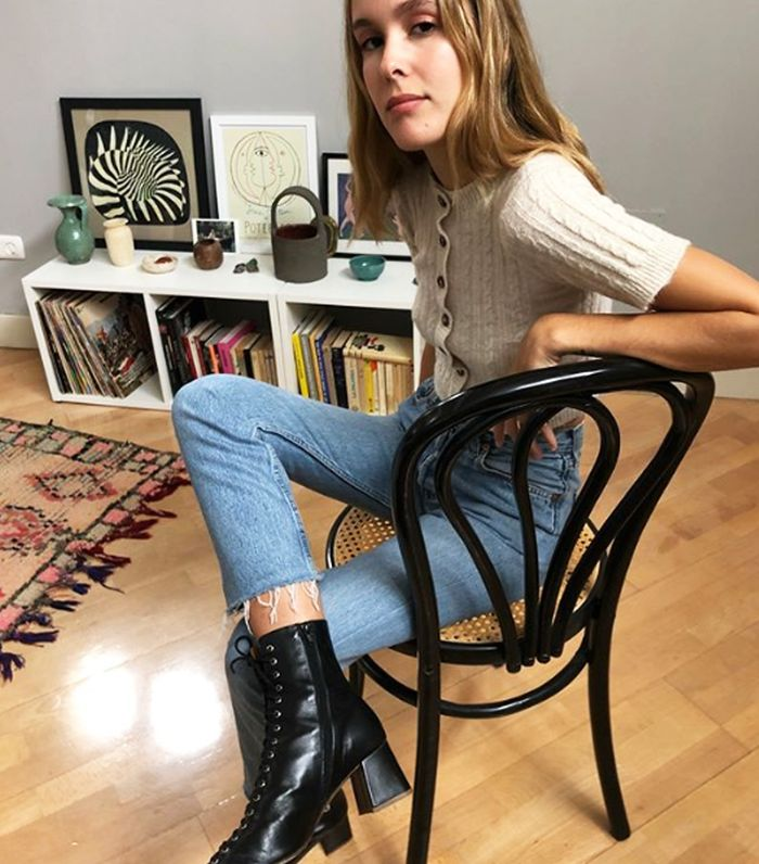 Winter Boots Trends 2018: Lucia Cuesta Wears By Far Lace Up Boots