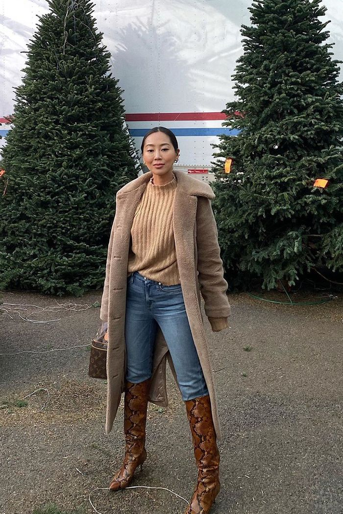 winter skinny-jeans outfits