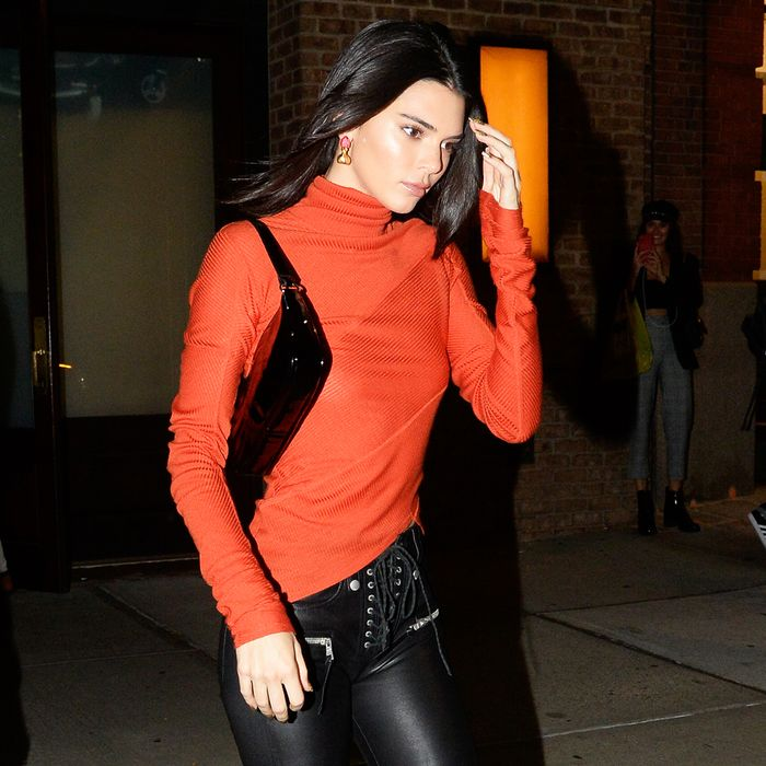 Kendall Jenner By Far Patent Bag