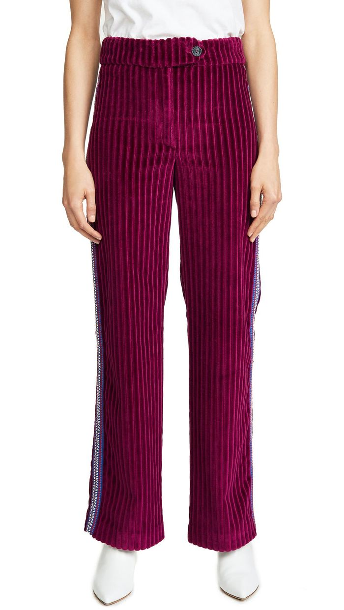 The Cool Velvet Pants You Ll Want To Wear Every Day Who What Wear