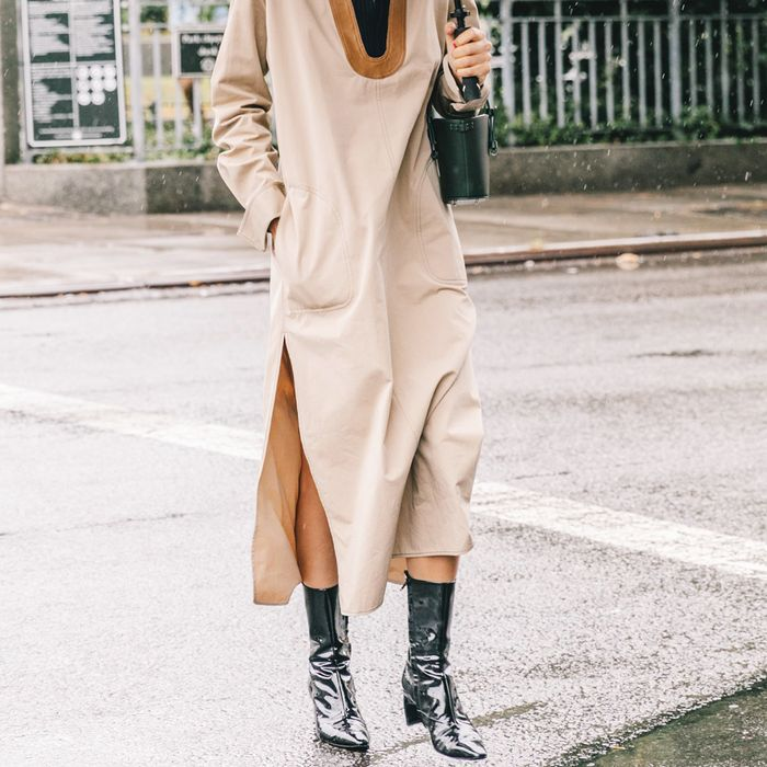 Patent Leather Boots Street Style