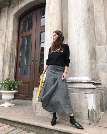 The Best Long Skirt Outfits For Winter Who What Wear