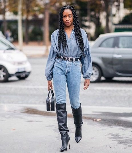 The 9 Coolest Denim-on-Denim Outfits for Winter | Who What ...