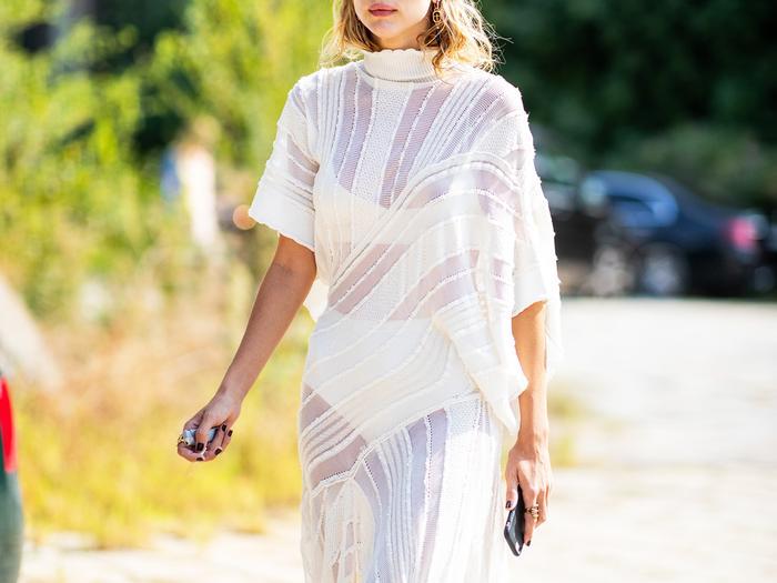 Sheer Dress Street Style