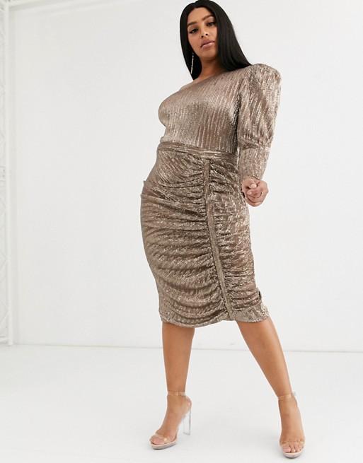 One Shoulder Plus Size Cocktail Dresses