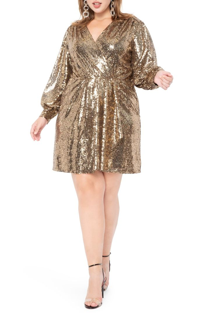 The 18 Best Sequinned Dresses For New Year S Eve Period Who What Wear