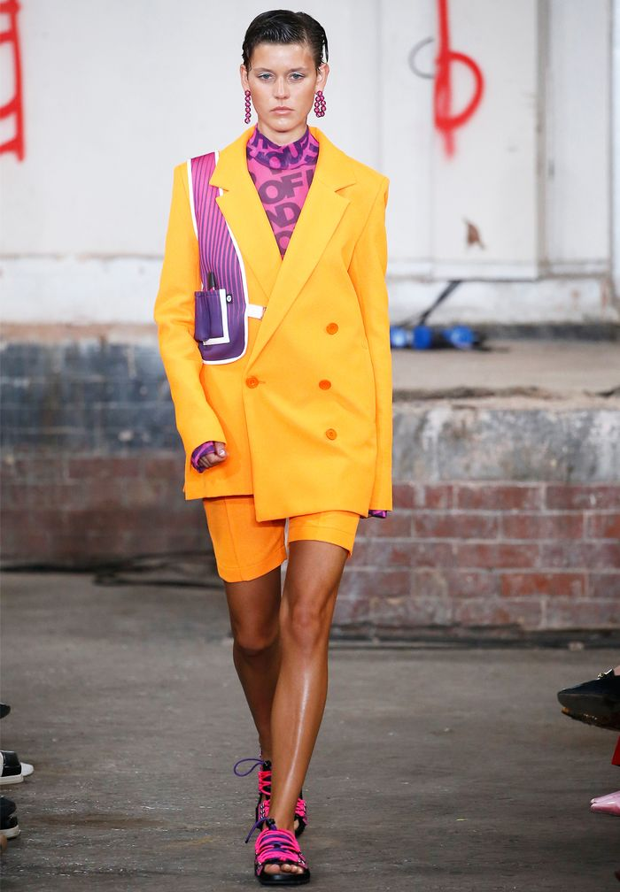 Neon Fashion Trend: As seen on the spring/summer 2019 House of Holland catwalk.