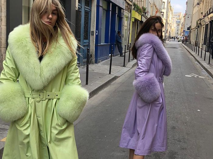 Slime-green outfits