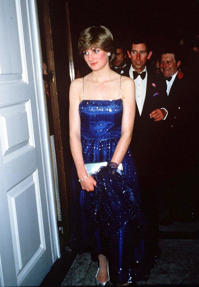 Princess Diana Party Outfits: Diana looks chic in spaghetti straps and sequins
