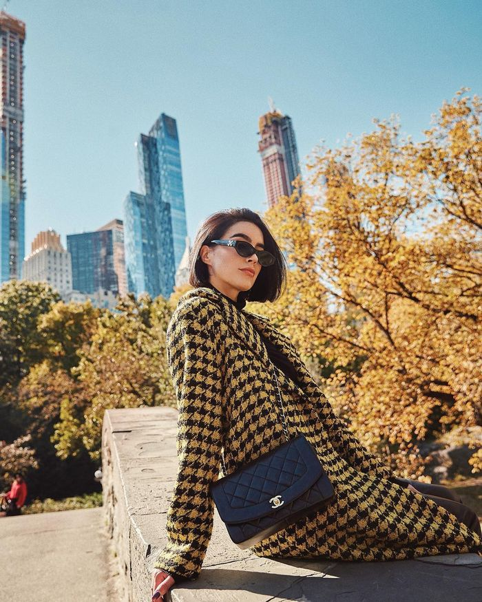 Winter coat trends: houndstooth