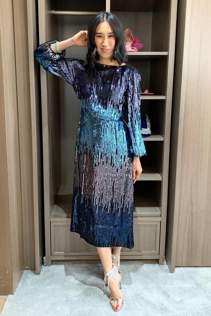 Eva Chen in Rixo Dress