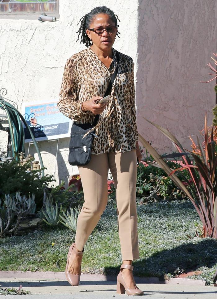Doria Ragland in leopard print