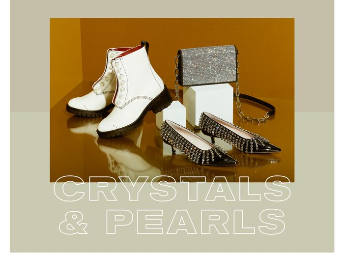 Best Holiday Accessories - Crystal and Pearl Embellished Bags and Shoes