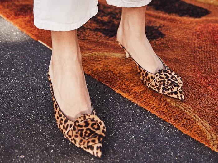 Leopard-print shoes