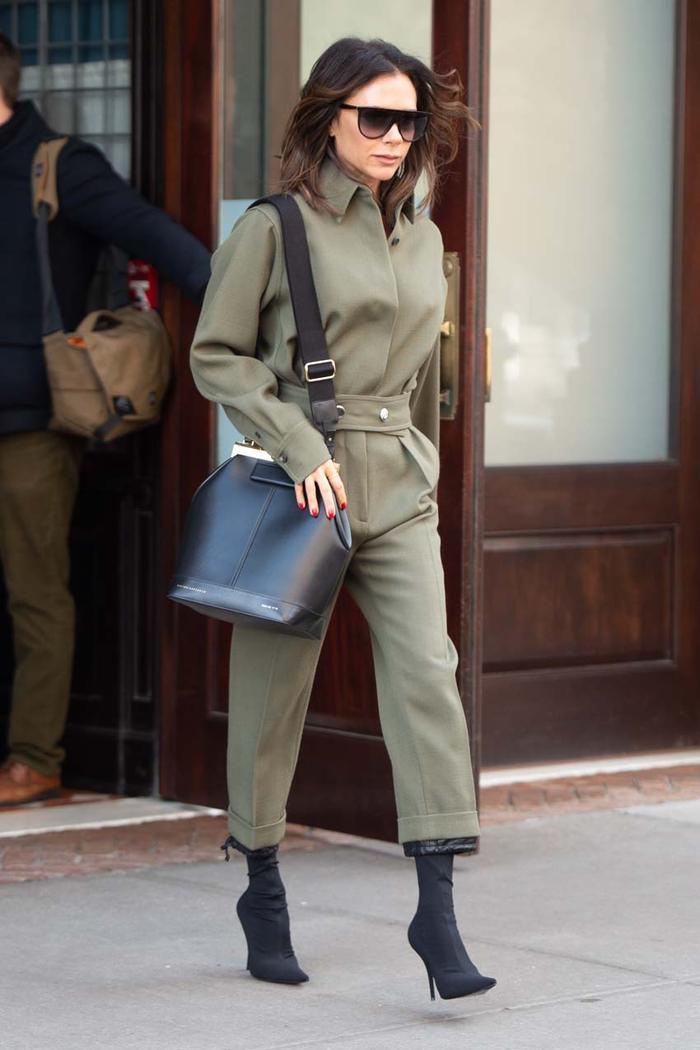 Victoria Beckham Wearing Sock Boots