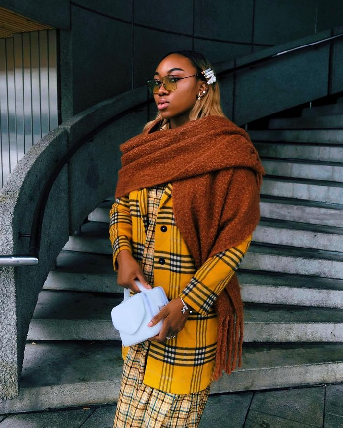 Best Winter Accessories: Nnenna Echem Wraps Up In Chunky Scarf and Hat