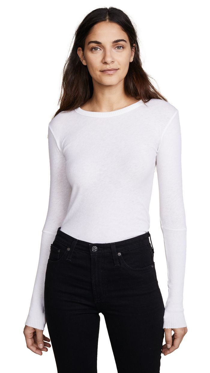 Quality UK Brand Womens Cotton Scoop Neck Long Sleeve T Shirt Top