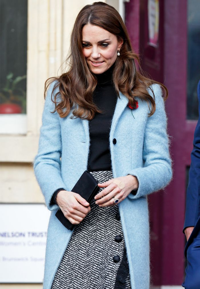 Kate Middleton Coats: The duchess has a penchant for powder blue.