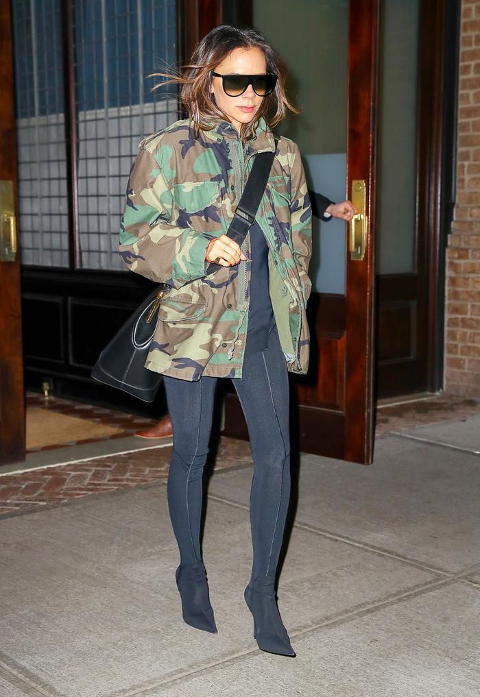 Victoria Beckham Wearing Leggings