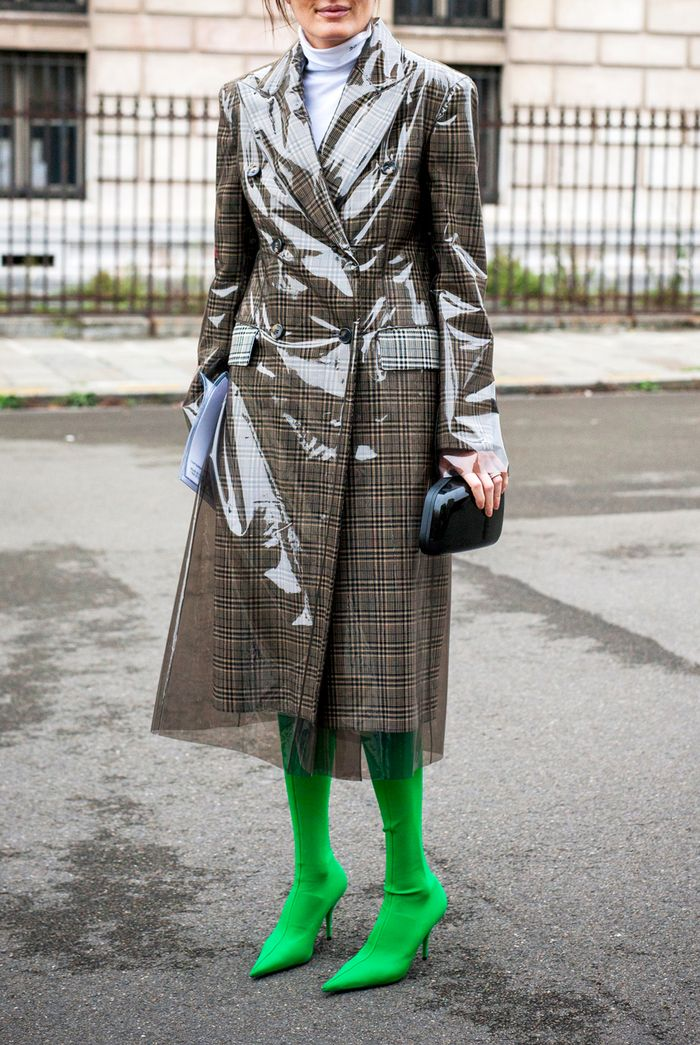 Slime Green Street Style