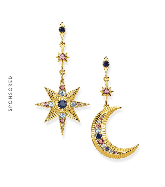 Thomas Sabo Earrings Royalty Star and Moon