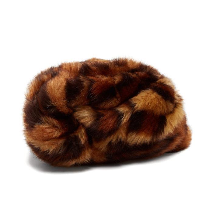 Ladies Camel Trapper Hat Faux Sheepskin Faux Fur Trim /& Lining Winter Accessory