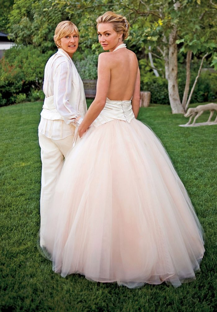 Pink Celebrity Wedding Dresses