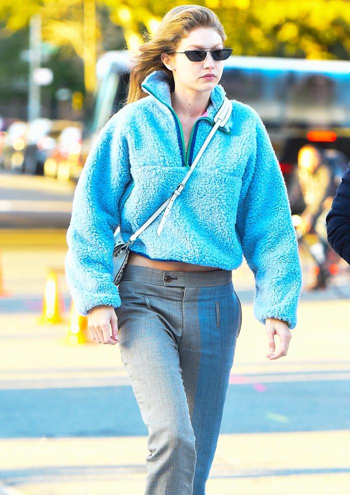 Fleece fashion trend: Gigi Hadid