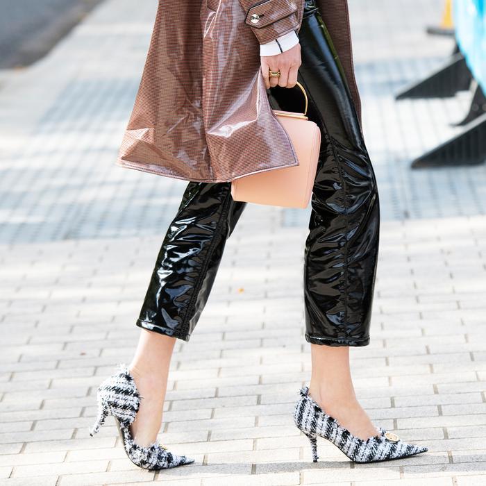 Tweed Heels Street Style