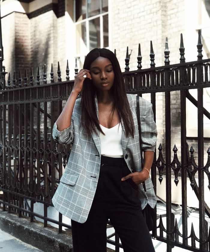 How to Repeat Outfits:Natasha Ndlovu gets the wear out of her checked blazer